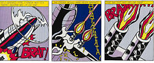 ROY LICHTENSTEIN - AS I OPENED FIRE (Triptych) Set of 3 - ART PRINT PRINTS