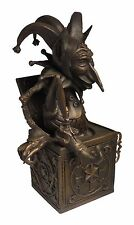 Distinctive Collections Jack-in-the-Box Bronze Sculpture; Lost-Wax Process