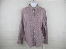 Tommy Hilfiger Shirt Sleeve New Womens Long Button Striped Classic Up Fit Oxford