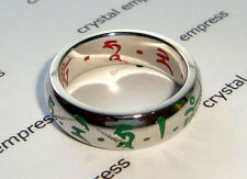 Feng Shui - 2016 Red & Green Tara Ring (Stainless Steel) - Size 9