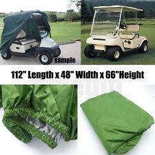 "112"" Green Golf Cart Cover(4-Passenger)Fit For Yamaha Cart EZ Go Club Car New"