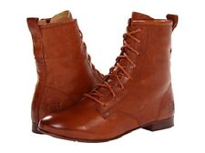 New in box FRYE Women's Jillian Lace Up Cognac Leather Boots SZ 6.5 Retail $268