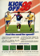 "Kick Off 96 ""Feel The Need For Speed?"" 1996 Magazine Advert #5352"