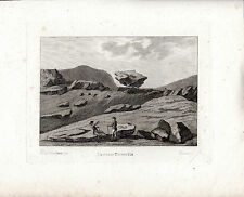 TWO ANTIQUE MYSTERY PRINTS - LAGGAN or LOGAN STONE? - HOOPER  COPPERPLATE (1790)