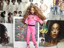 my scene barbie ,ethnic,mixed race doll,long curly hasir,tracksuit,flavas style