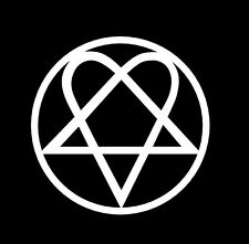 Heartagram vinyl decal sticker Him Bam Margera