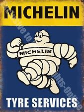 Vintage Garage 21,Michelin Man, Tyres,,Motor Car,Wheels,Old Large Metal/Tin Sign