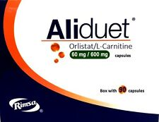 ORLISTAT AliDuet 90 Caps 60mg+L-Carnitine.Lose Weight.Fat LossExtreme Burn Fat