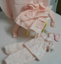 """Pajamas, robe and slippers made by Effanbee for 14"""" Toni dolls"""