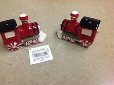 Grasslands Road Christmas Ceramic Salt & Pepper Shakers New in Box