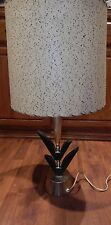 50s-60s ATOMIC EAMES ERA MID CENTURY MODERN TABLE LAMP FIBERGLASS SHADE DANISH?