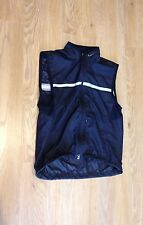 MENS MEDIUM BLACK NIKE GILET SLEEVELESS SPORTS TOP GOLF RUNNING HI VIS