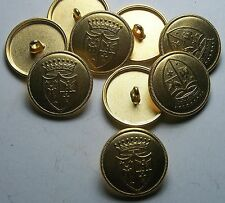 Pack of 8 23mm Germanic Heraldic Gold Metal Military Style Button 2020