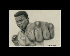 Muhammad Ali professional boxer drawing from artist art Image picture