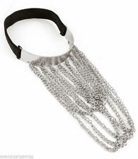 Upper Arm Cuff with Chains Bracelet Sensual Woman's Ladies Silver Plated