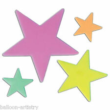 12 Glow In The Dark Birthday Star Stars Cutouts Party Decorations