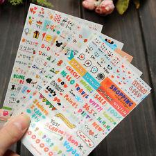 6X Hübsch Scrapbook Tagebuch Kalender Planer Dekorpapier Aufkleber DIY Lovely