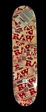 RAW CLASSIC  NATURAL UNREFINED ROLLING PAPER SKATEBOARD 32'' LONG , NEW