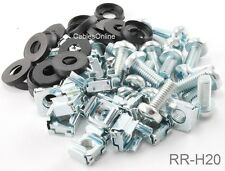 20PK Server Rack & Cabinet M6 Cage Nuts & Mounting Screws, CablesOnline RR-H20