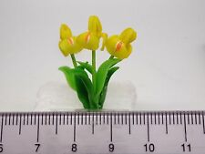 1:12 Scale Yellow  Iris Flowers  Doll House Miniatures Flowers, Garden