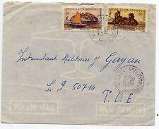 LETTRE AIR MAIL / PAR AVION / NOUVELLE CALEDONIE NOUMEA / SP 50714 T.O.E. 1953