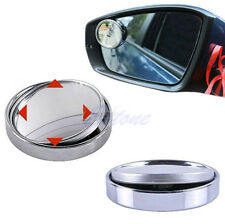 Wide Angle Convex Car Auto Blind Spot Round Stick-On Side View Rearview Mirror