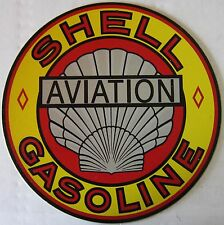 "SHELL Gasoline Automotive Metal Sign ( 12"" Round )"