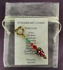 STRAWBERRY CHARM Amulet Talisman Love Symbol Totem Sign Inspiration Attraction