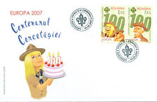Romania 2007 Europa CEPT,100th Boy Scouts Anniversary,Sir Robert Powell,nice FDC