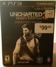 Uncharted 3 Drake's Deception Collectors Edition Chest & Statue ONLY! Very Good