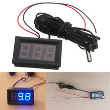 Pro Blue LED DC 12V Thermometer + Sensor Probe -50~110C Temperature Detector
