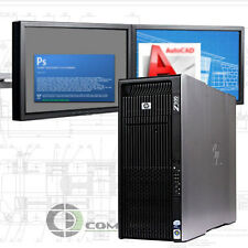 HP Z800 Computer 32GB RAM 256GB SSD + 4 TB K5000 PC for 3D Modeling Rendering