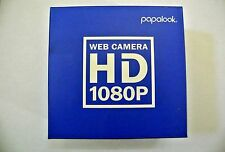 PAPALOOK HD 1080P WEBCAM PA187 HIGH DEFINITION WIDESCREEN USB 2.0 CAMERA W/
