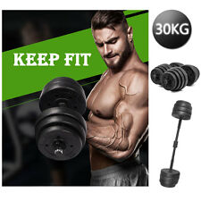 30KG 2 X Weights Dumbbell Set Gym Workout Fitness Biceps Exercise Training