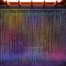 LED Curtain Multicolored Waterfall String Icicle Fairy Lights