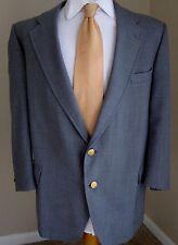 Palm Beach Blazer 44S Light Blue Gold Buttons Made USA Sport Jacket Coat Mens