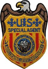 NCIS U.S. Special Agent Badge Gold/Blue Embroidered Patch Sew/Iron-on 3.5 inch