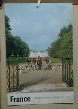 AFFICHE ANCIENNE PHOTO FRONVAL CHATEAU CHEVERNY LOIR ET CHER CHASSE A COURRE