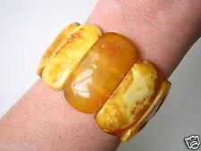 XL Natur Bernstein Armband Butterscotch Honig 33,6 g Genuine Amber Bracelet