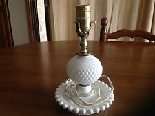 Depression milk glass Hobnail table lamp