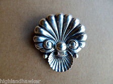 Vintage Sterling Silver Seashell Pin Brooch Signed Cini