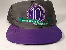 "Western Railroad Properties ""10"" Vintage Snapback Cap -Shiny Nylon material!"