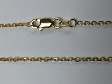 "18kt 18K Yellow Solid Gold 18"" 1.5mm Diamond Cut Cable Chain Lobster Clasp Catch"