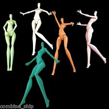 """Nude Torso Body Movable Hands Legs Foots 1/6 Scale for Monster High 11"""" Dolls"""