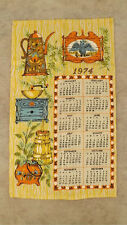 VTG 1974 Calendar Kitchen Towel Country Toll Painting Early American UNUSED
