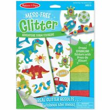 Melissa and Doug Mess Free Glitter Art Kits for Kids  - Adventure Foam Stickers