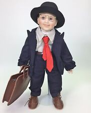 GEORGETOWN COLLECTION JUST LIKE DAD PORCELAIN DOLL BY JOYCE REAVEY COA USED