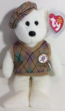 """TY Beanie Babies """"TOUR TEDDY"""" the PGA Golf Bear MWMT! RETIRED! TY STORE EXCL!"""