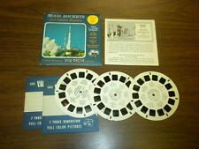 MOON ROCKETS AND GUIDED MISSILES (B6561-6563) Viewmaster 3 reels PACKET SET