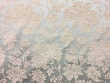 QUALITY FLORAL DUCK EGG BLUE DAMASK UPHOLSTERY CURTAIN FABRIC MATERIAL SALE!